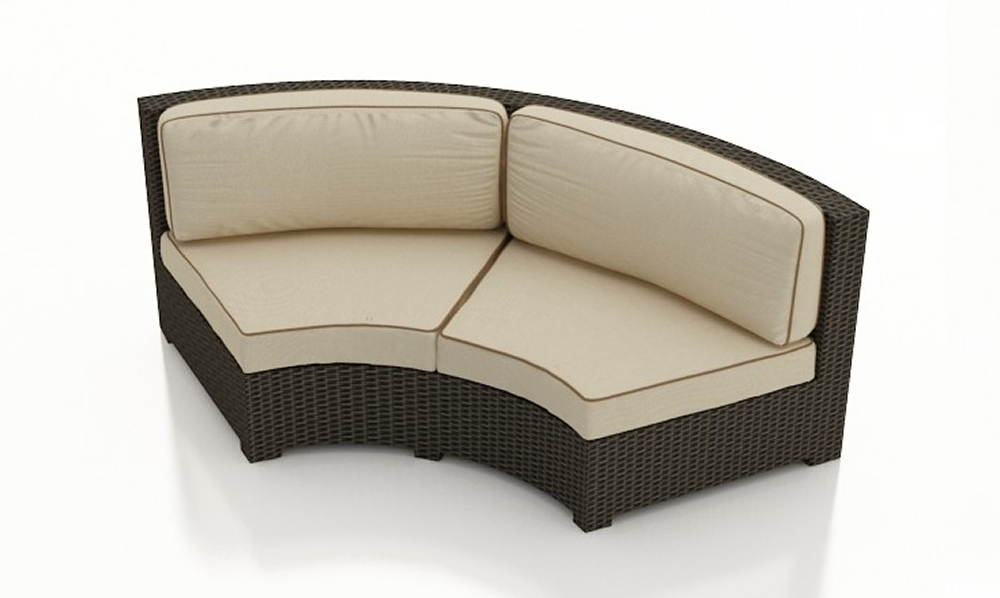 Forever Patio Hampton Wicker Curved Sofa - Replacement Cushion - Wicker.com - Forever Patio Hampton Wicker Curved Sofa - Replacement Cushion