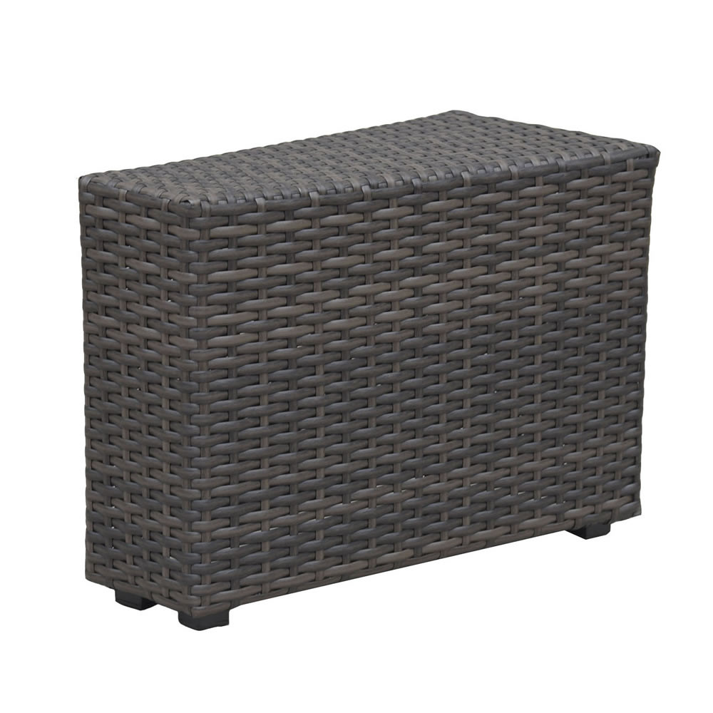 Forever Patio Horizon Wedge Wicker End Table Wicker End Tables