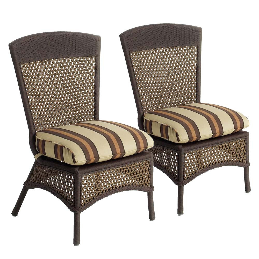 Lloyd Flanders Grand Traverse Wicker Armless Dining Chair