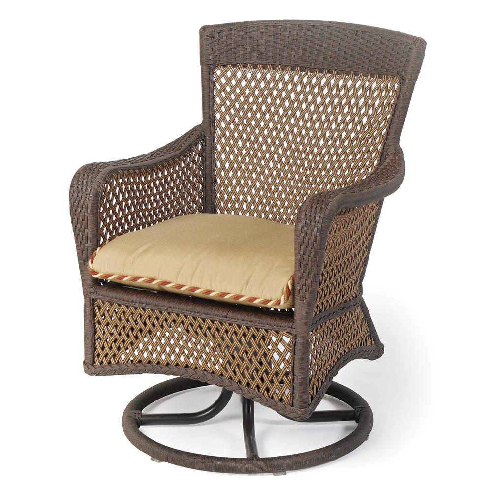 Lloyd Flanders Grand Traverse Wicker Swivel Dining Chair