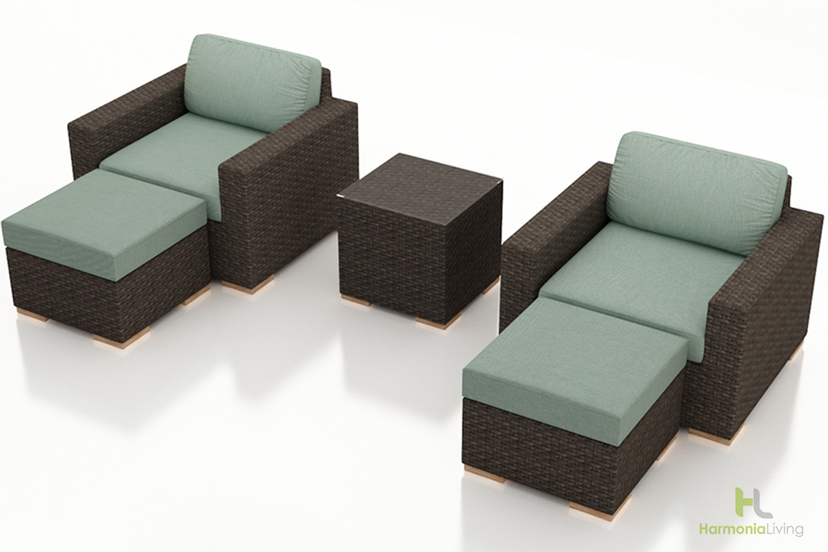 Harmonia Living Arden 5 Piece Club Chair Set Wicker Com