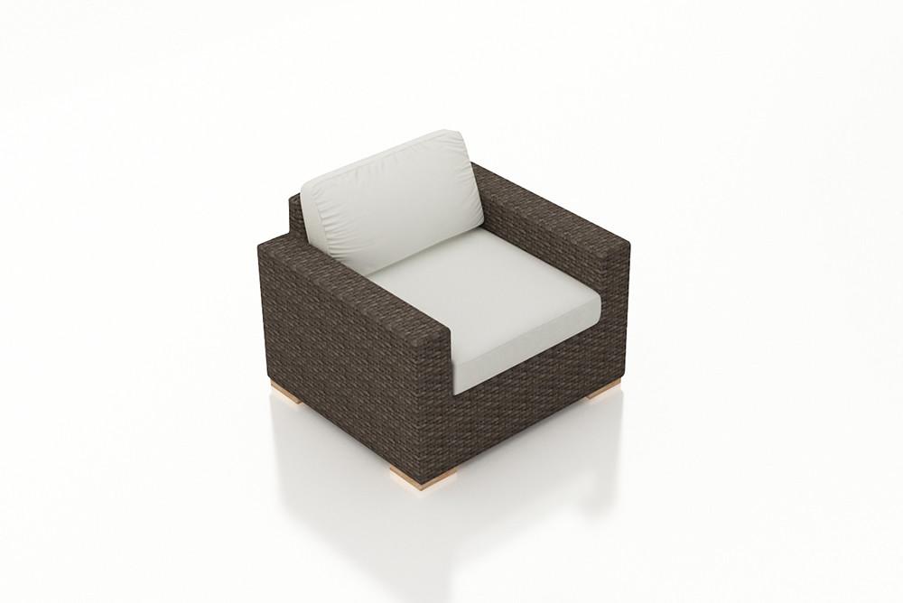 Harmonia Living Arden Wicker Lounge Chair   Custom Cushion Fabric