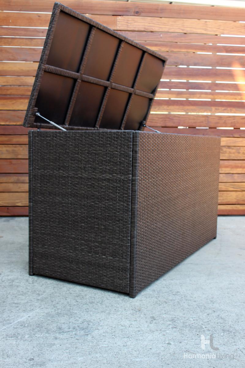 Harmonia Living Arden Chestnut Storage Box Wicker Com