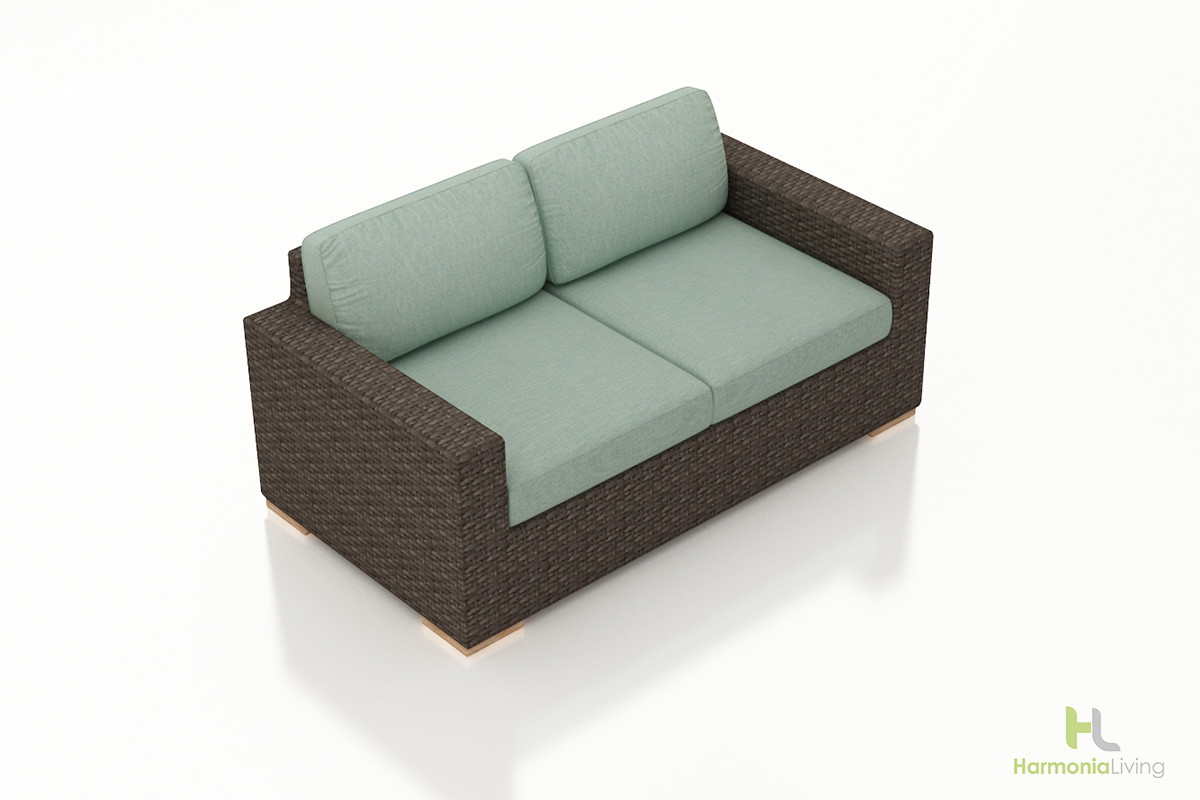 Harmonia living arden loveseat Rattan loveseat