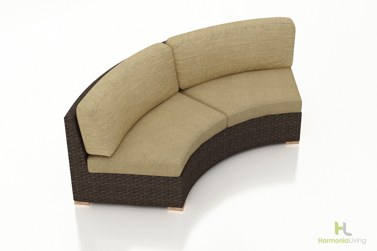 Harmonia Living Arden Eclipse Curved Loveseat