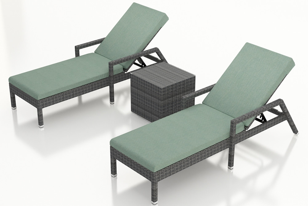Harmonia Living District 3 Piece Wicker Reclining Chaise Lounge Chat Set- Sunbrella Canvas Spa & Harmonia Living District 3 Piece Wicker Reclining Chaise Lounge ... islam-shia.org