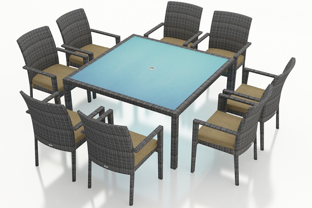 Harmonia Living District 9 Piece Wicker Dining Set