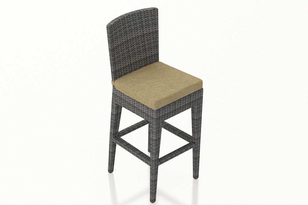 Harmonia Living District Wicker Bar Chair Wicker Bar