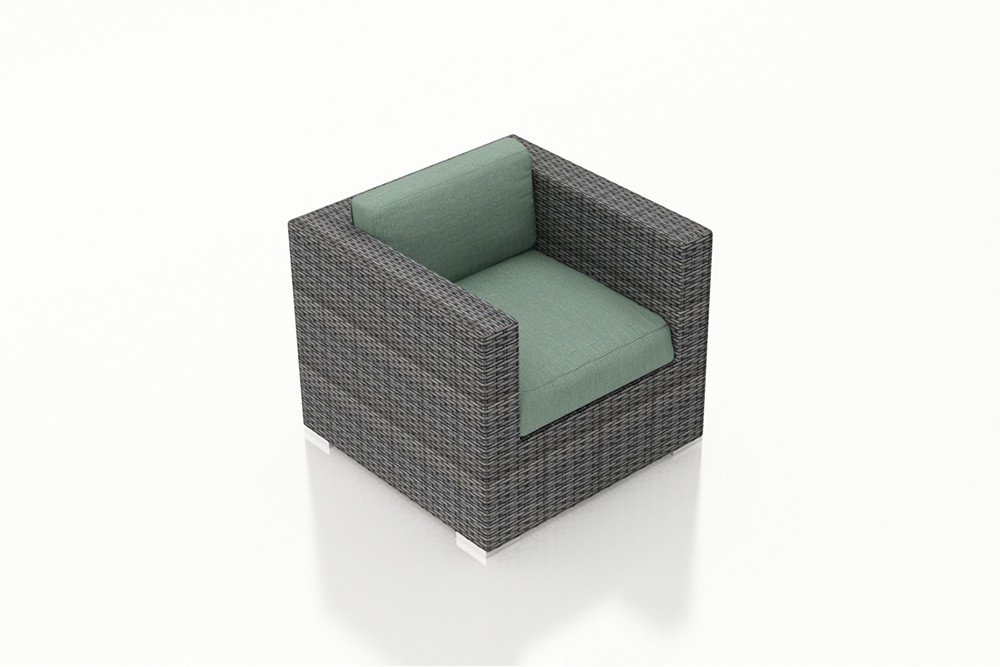 Harmonia Living District Wicker Lounge Chair Wicker