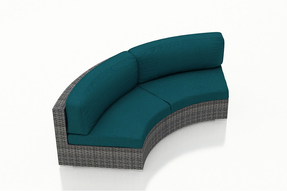 Harmonia Living District Wicker Curved Sofa
