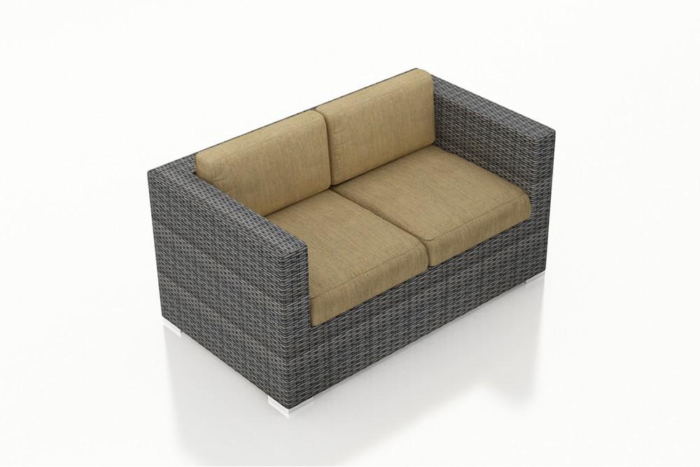 Harmonia Living District Wicker Loveseat Replacement Cushion Harmonia Living Replacement