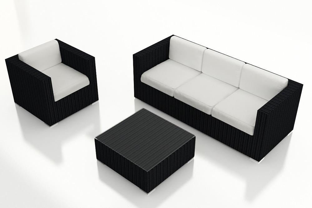 Harmonia Living Urbana 3 Piece Sofa Set Wicker Com