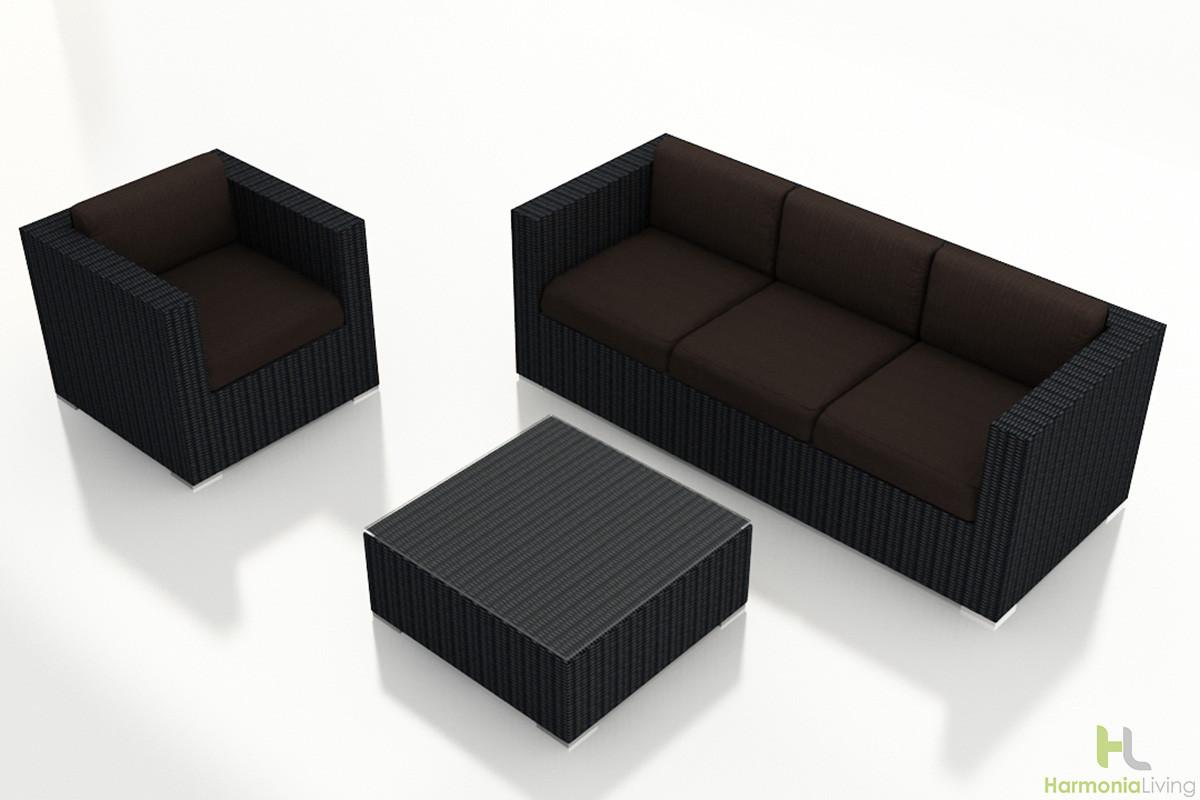 Harmonia Living Urbana 3 Piece Sofa Set Wickercom