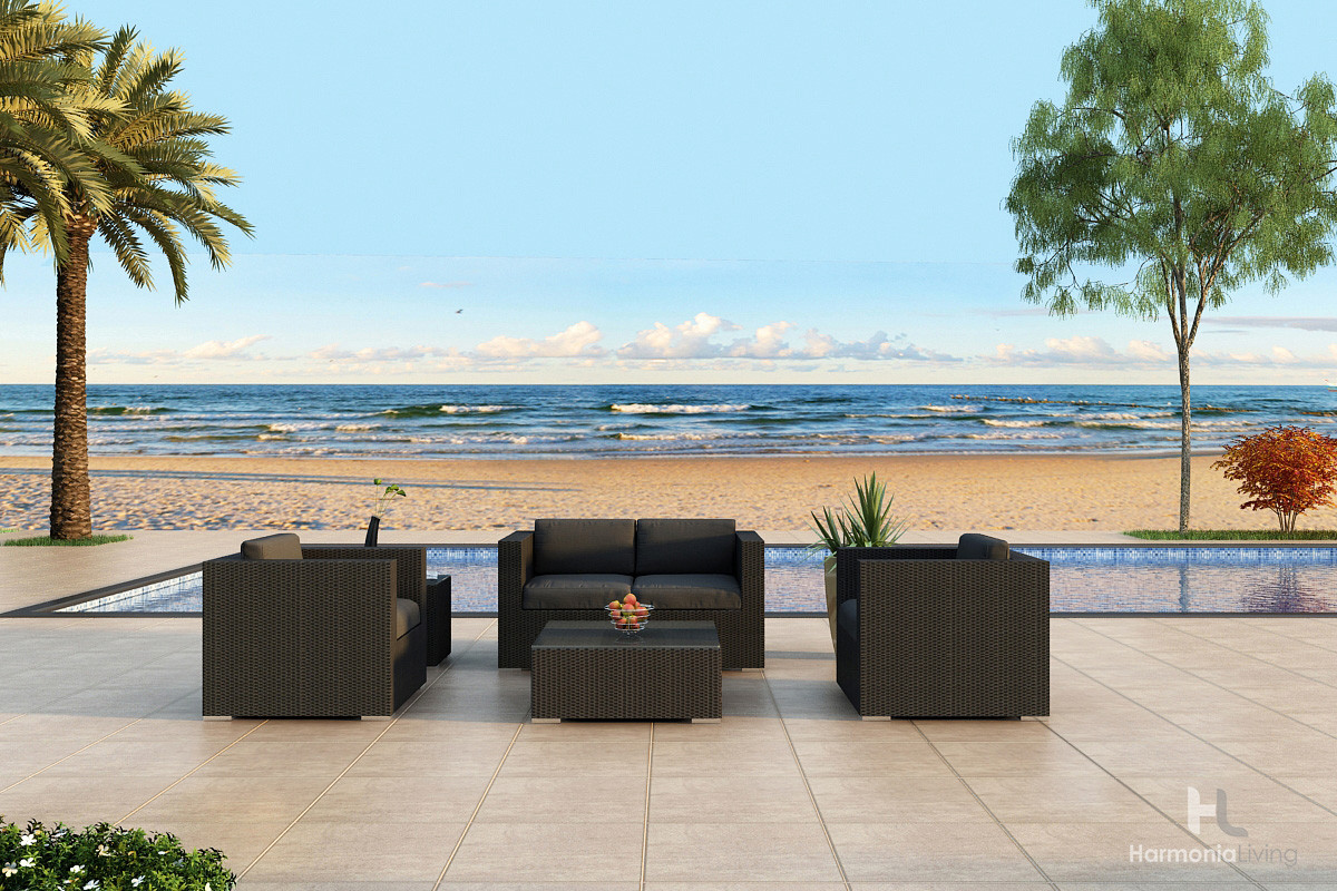 Harmonia Living Urbana 4 Piece Sofa Seat Set