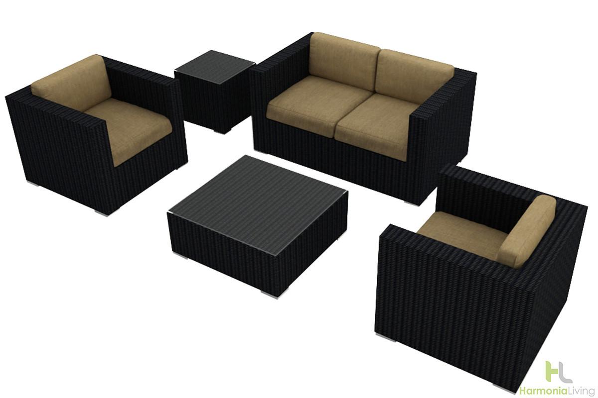 Harmonia Living Urbana 4 Piece Sofa Seat Set Wicker Com