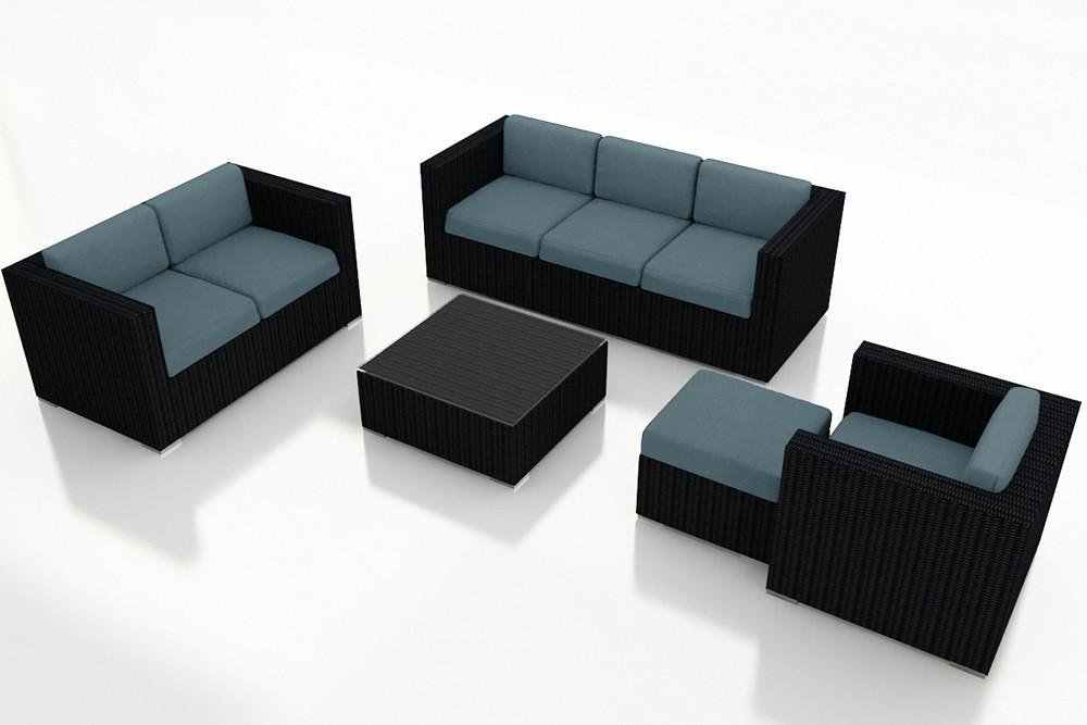 Harmonia Living Urbana 5 Piece Sofa Set Wicker Com