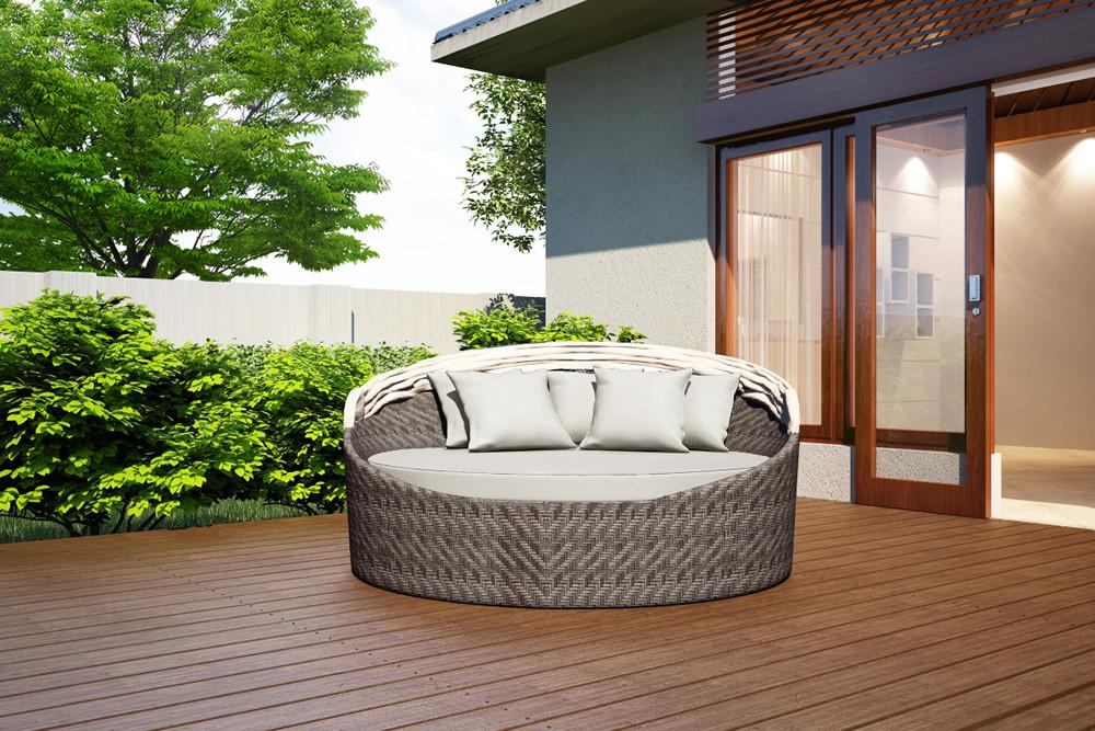 Harmonia Living Wink Wicker Daybed Custom Cushion Fabric