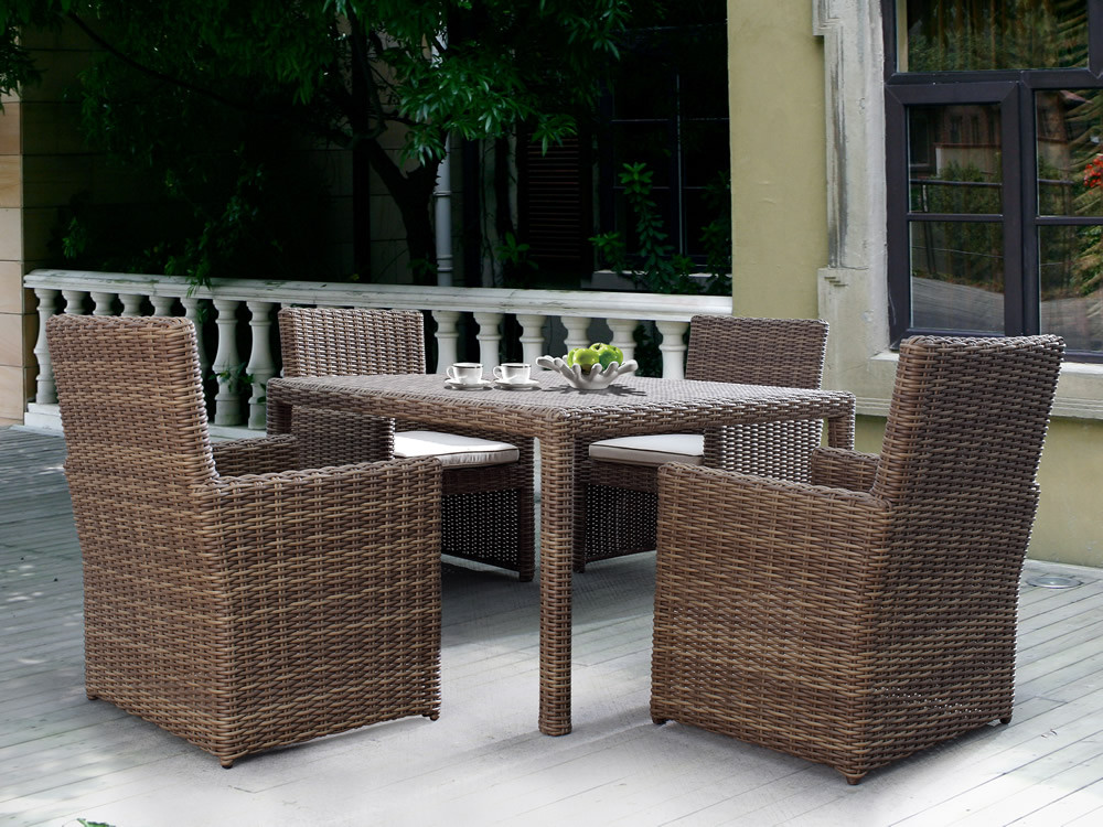 Sunset West Coronado 5 Piece Wicker Dining Set