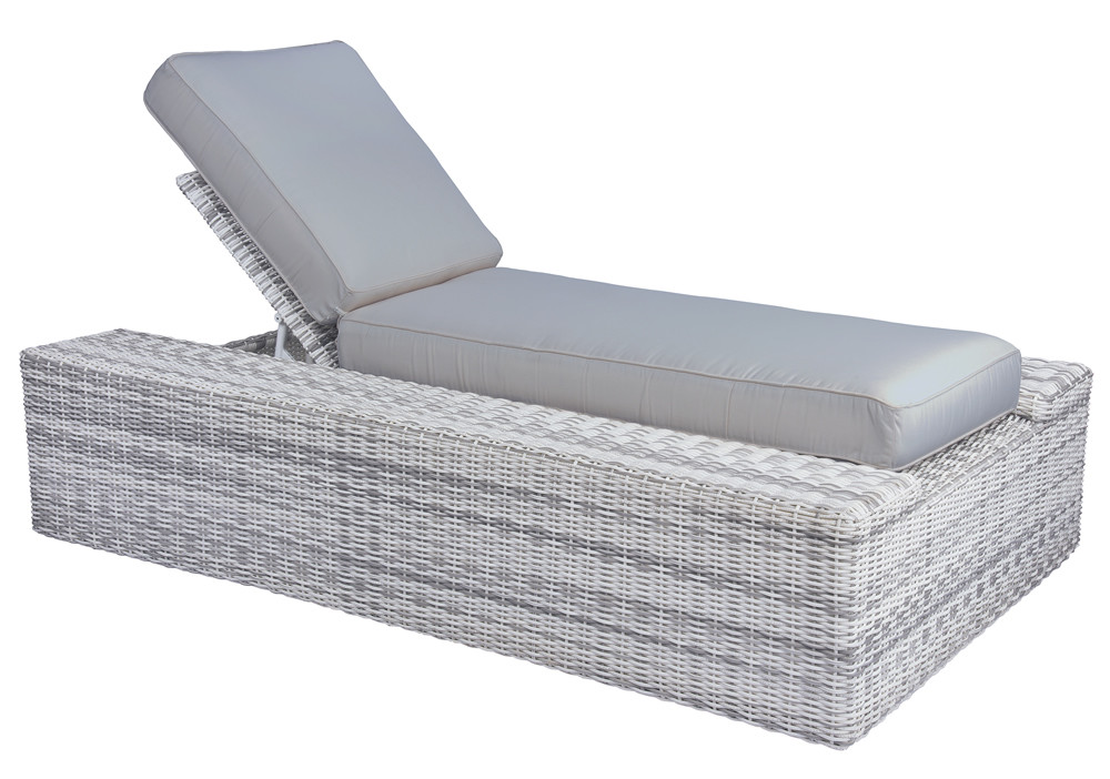 whitecraft by woodard imprint adjustable wicker chaise lounge replacement cushion whitecraft. Black Bedroom Furniture Sets. Home Design Ideas