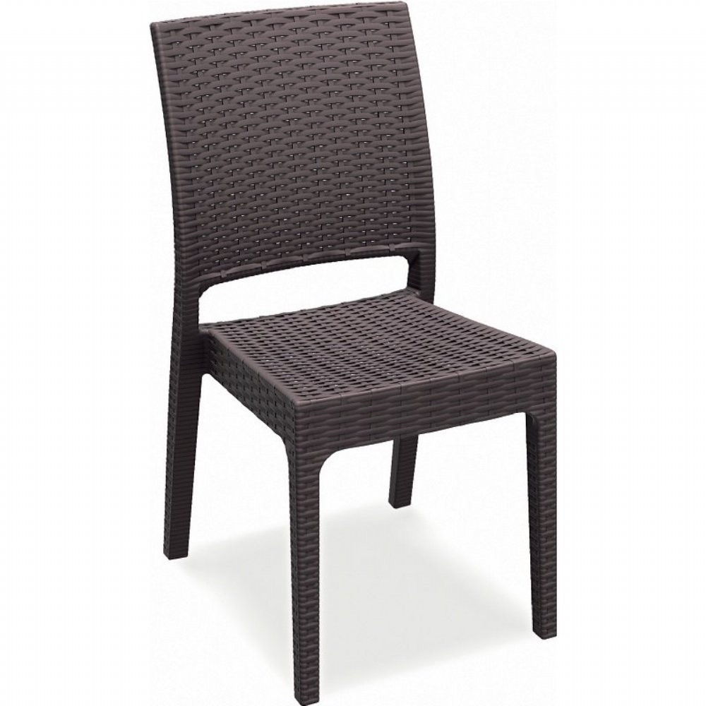 Superbe Compamia Florida Wicker Armless Dining Chair Pair