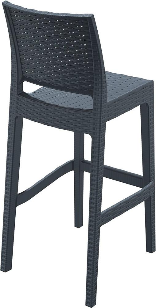 Compamia Jamaica Wicker Bar Chair Pair Wicker Bar Stools