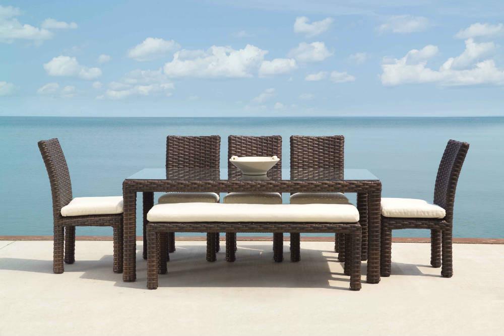 Lloyd flanders contempo wicker parson 39 s dining chair - Contempo wicker outdoor furniture ...