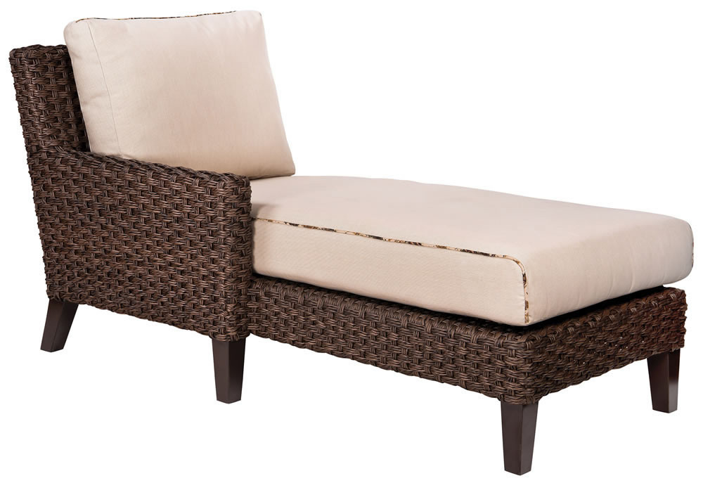 Whitecraft By Woodard Mona Left Arm Facing Wicker Chaise