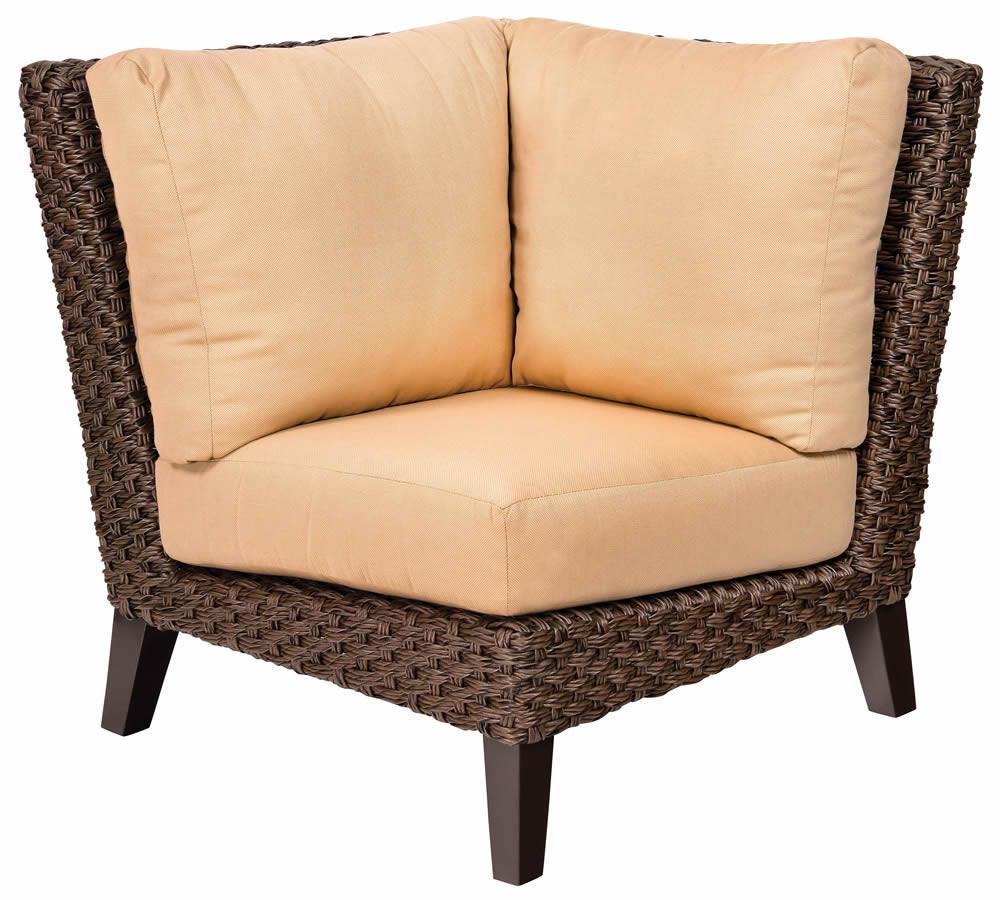 Whitecraft By Woodard Mona Wicker Corner Chair Replacement Cushion