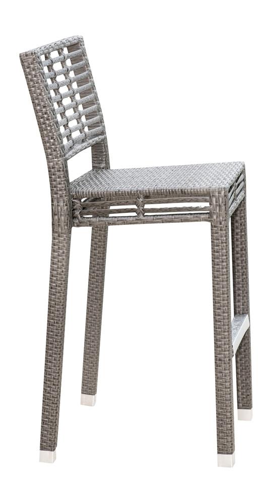 Panama Jack Graphite Stackable Wicker Bar Chair Wicker