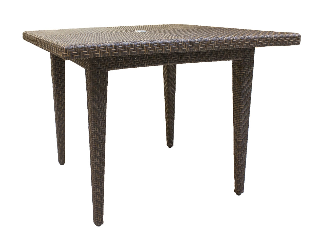 Panama Jack Oasis Square Wicker Dining Table Wicker