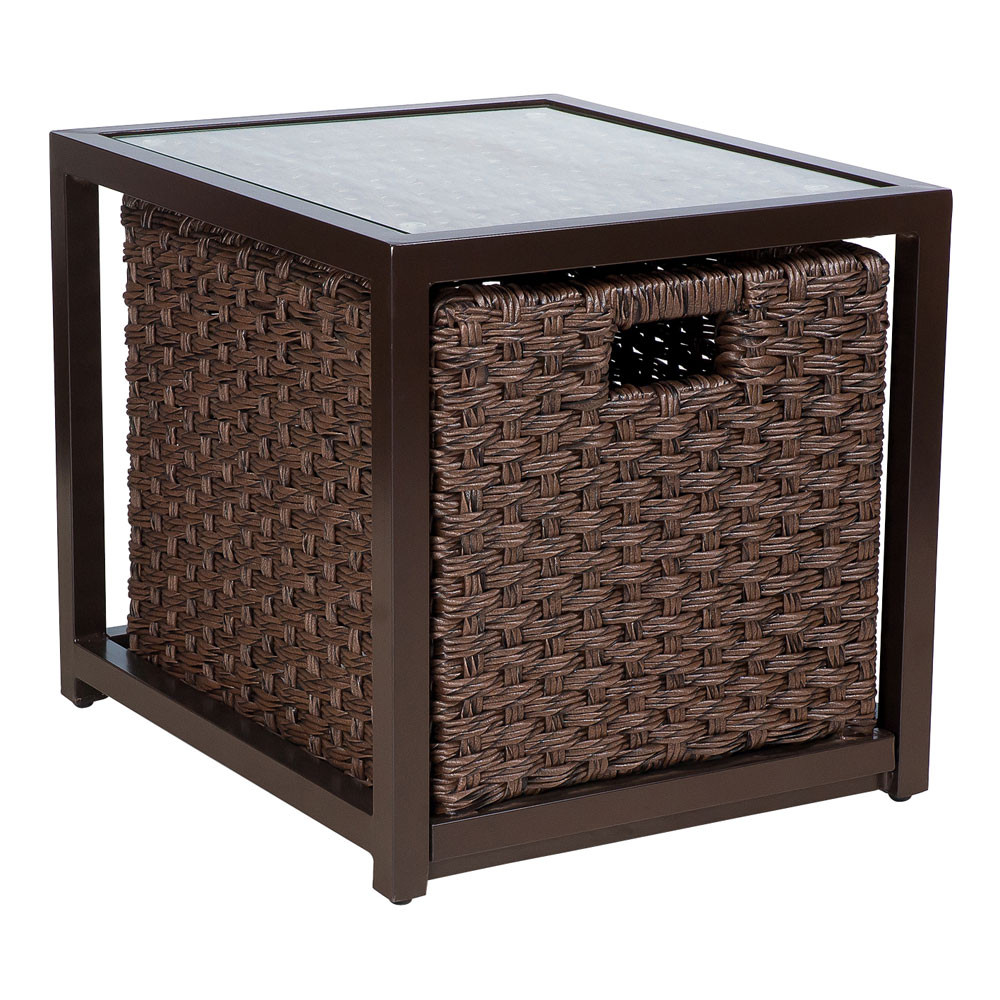 WhiteCraft by Woodard Mona End Table with Drawer Wickercom