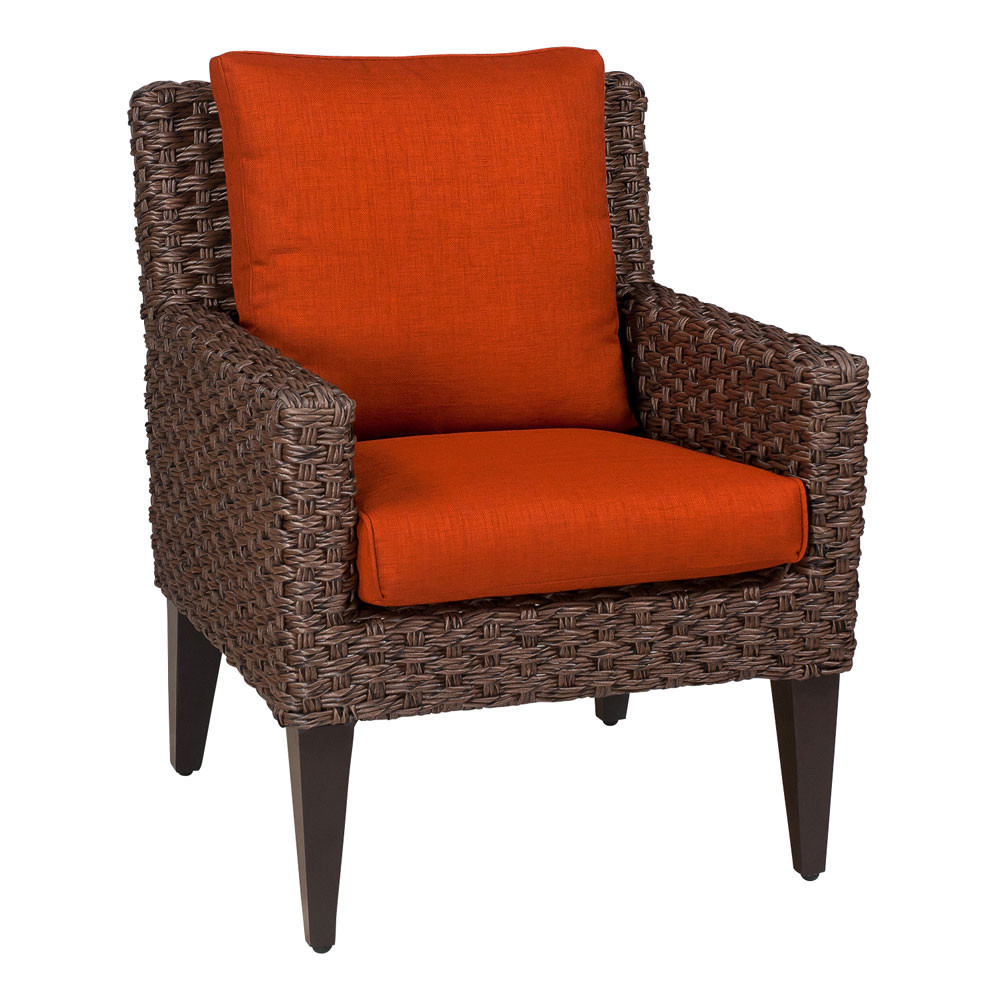 Whitecraft By Woodard Mona Dining Chair Replacement Cushion Wicker Com