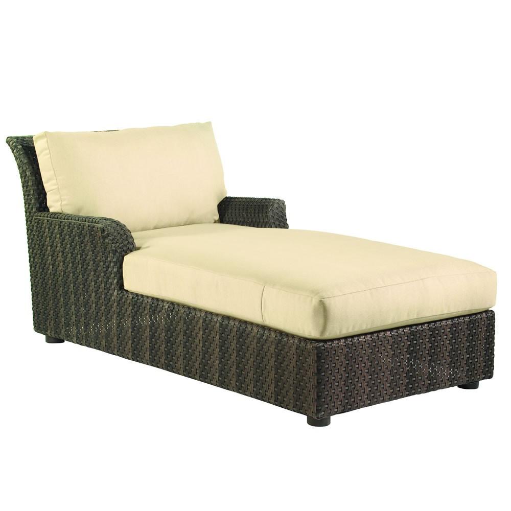 whitecraft by woodard aruba wicker chaise lounge replacement cushion whitecraft by woodard. Black Bedroom Furniture Sets. Home Design Ideas