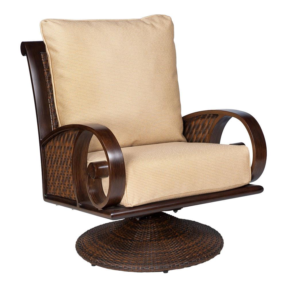 whitecraft by woodard north shore swivel rocking lounge chair