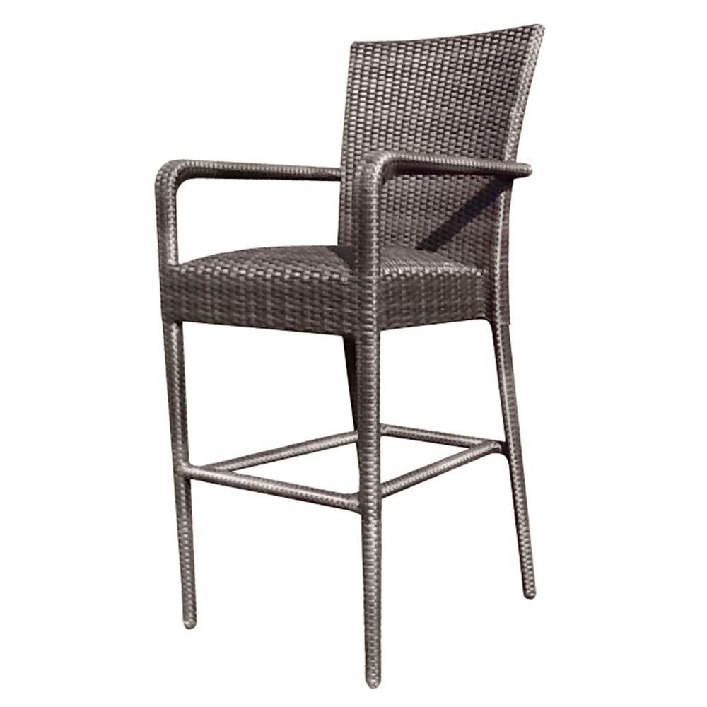 Attirant WhiteCraft By Woodard Wicker Counter Chair
