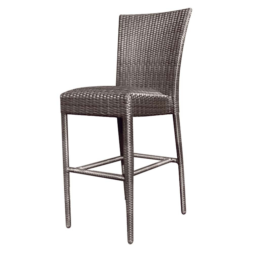 Whitecraft by Woodard Wicker Padded Seat 24quot Armless  : s593091 padded seat bar stool without arms from www.wickercentral.com size 1000 x 1000 jpeg 83kB