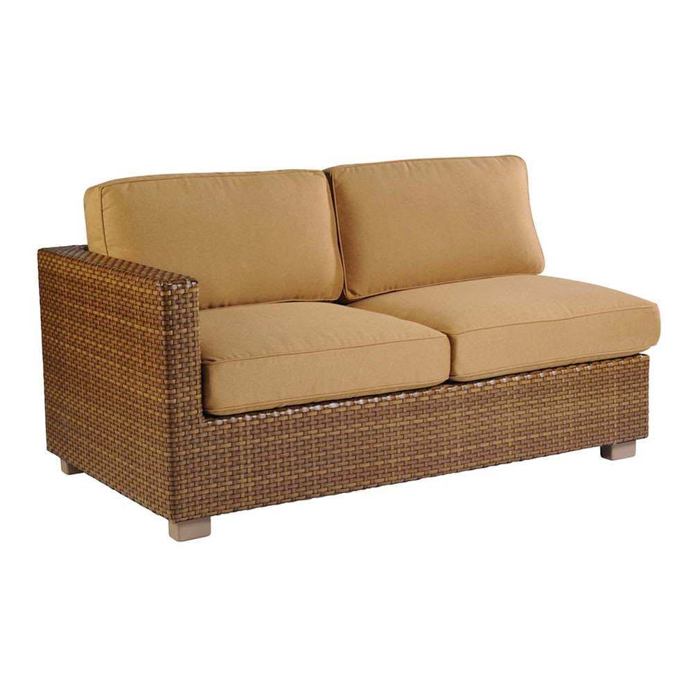 Whitecraft By Woodard Sedona Wicker Sectional Love Seat