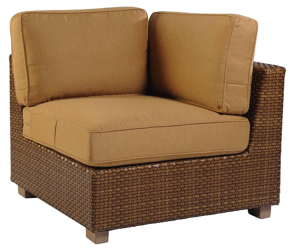 WhiteCraft By Woodard Sedona Wicker Corner Chair