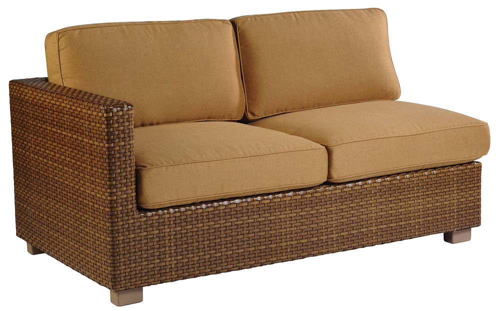 Whitecraft By Woodard Sedona Wicker Sectional Loveseat Replacement Cushion Whitecraft By