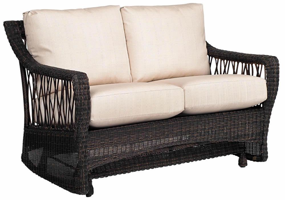 Whitecraft By Woodard Serengeti Wicker Loveseat Glider Replacement Cushion Whitecraft By
