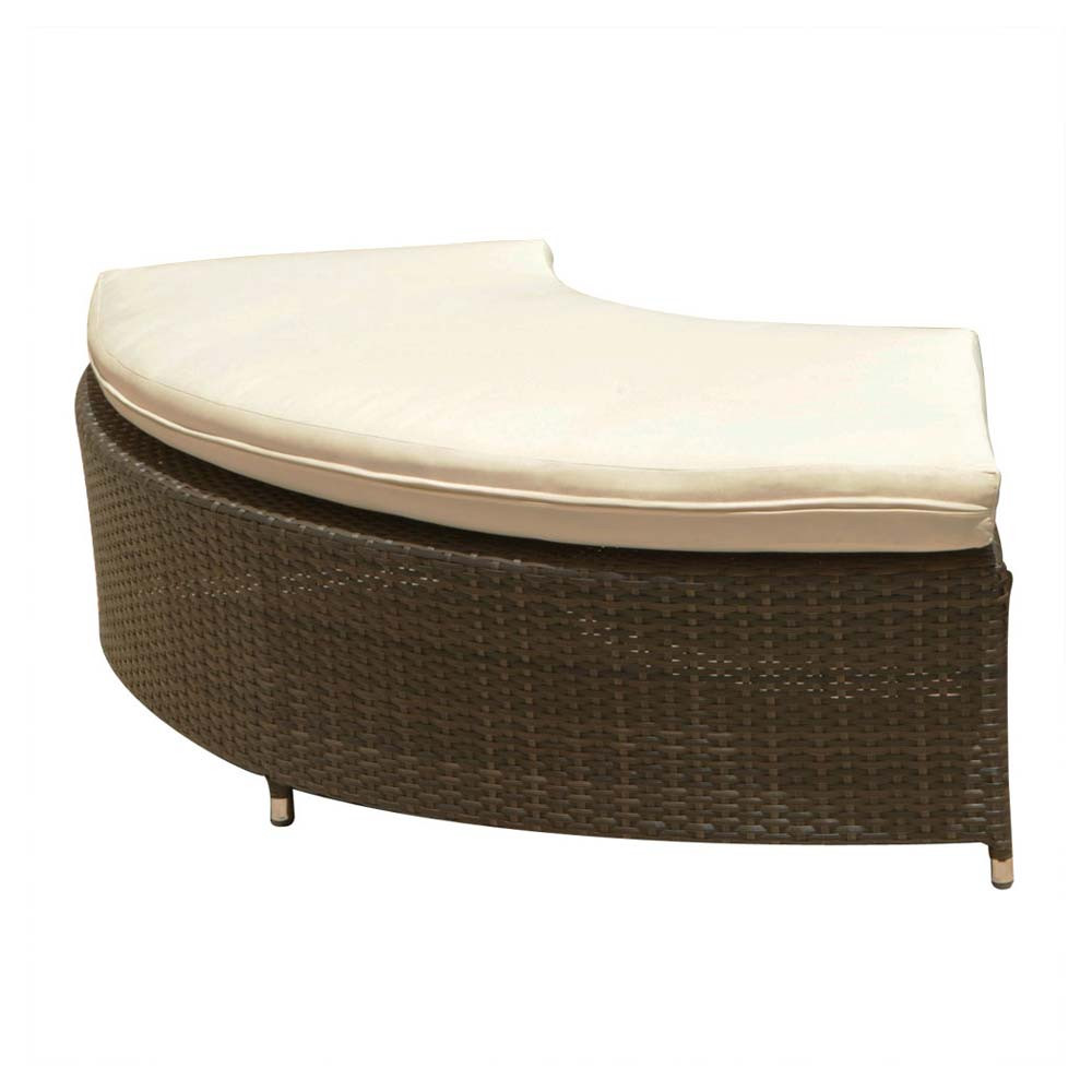 Source Outdoor Circa Wicker 1 4 Round Backless Bench