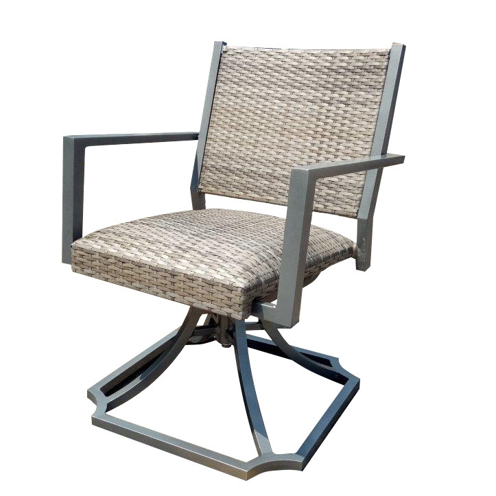 Forever Patio Spirit Swivel Wicker Dining Chair Chairs
