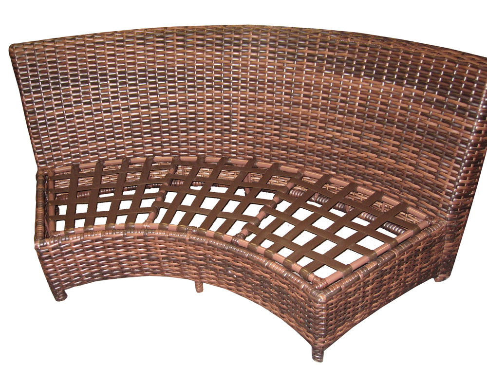 South Sea Rattan Saint Tropez Wicker Curved Love Seat