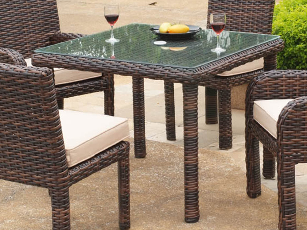 Bon South Sea Rattan Saint Tropez Square Wicker Dining Table