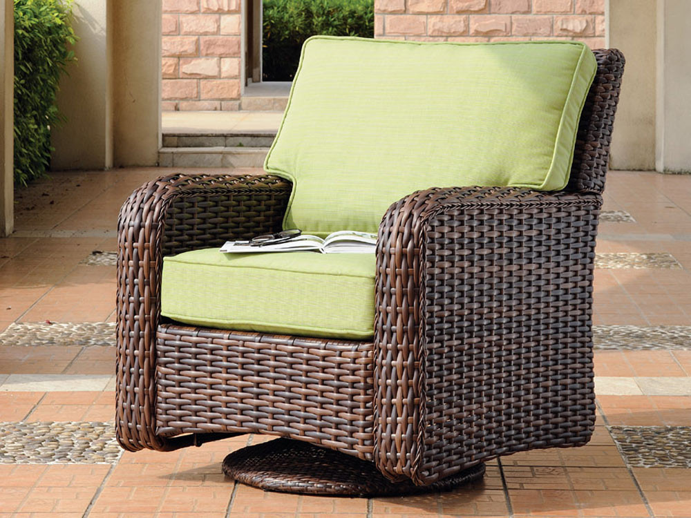 Superb South Sea Rattan Saint Tropez Wicker Swivel Glider