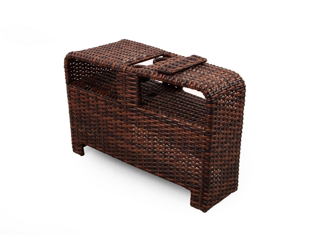 South Sea Rattan Saint Tropez Wicker Sectional Wedge End