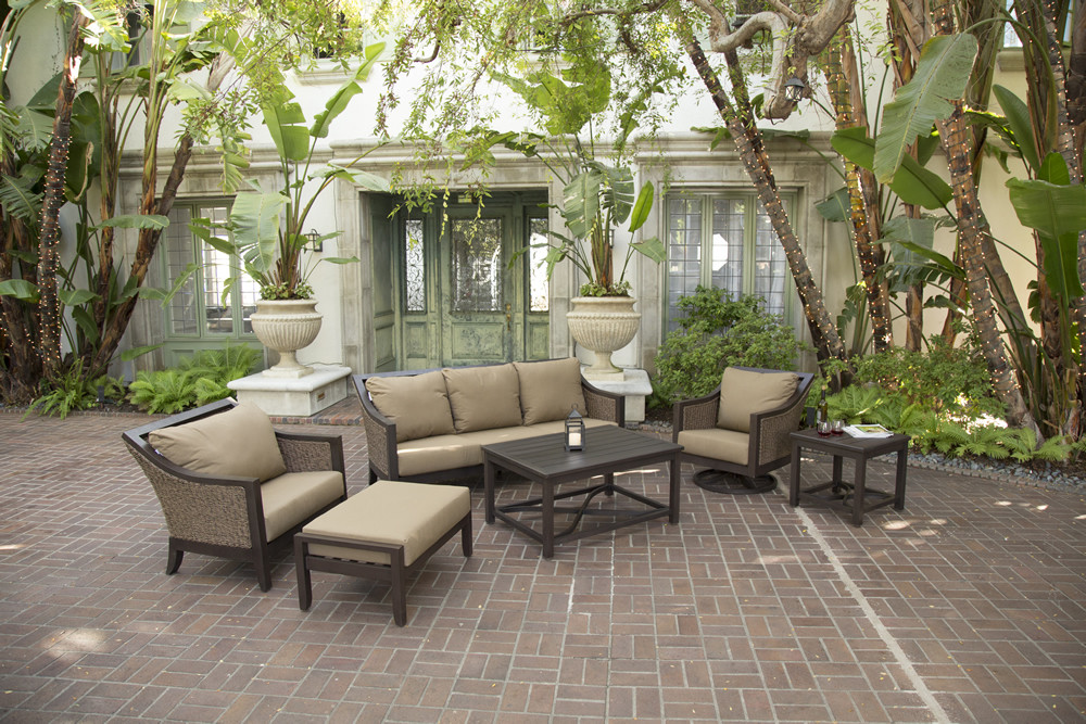 Sunvilla Biscay 6 Piece Wicker Conversation Set 4 5