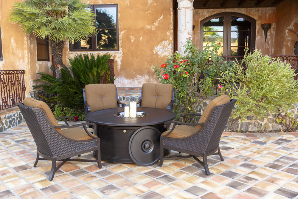 Sunvilla Somerset 5 Piece Wicker Conversation Set