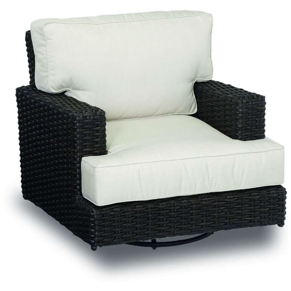 Sunset West Cardiff Wicker Swivel Rocking Club Chair on rattan rocking chair replacement cushions