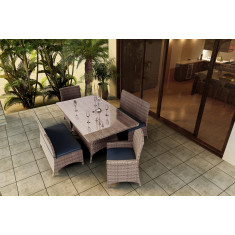Forever Patio Hampton 5 Piece Wicker Dining Set